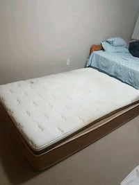 white and gray floral mattress Burnaby, V5H 2P4