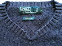 Ralph Lauren size L navy sweater, open collar Burnaby, V5C 6L7