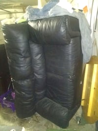 black leather 3-seat sofa in good condition Dallas, 75241