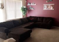 Brown ashley sectional couch Las Vegas, 89119