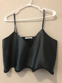 Zara leather crop top London, N6B 5H7