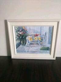 Artist Marie Jackson Original Signed Painting The Flowered Donkey. Newmarket, L3Y 8J5