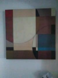 white, red, and black abstract painting Cedar Rapids, 52404