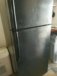 black top-mount refrigerator