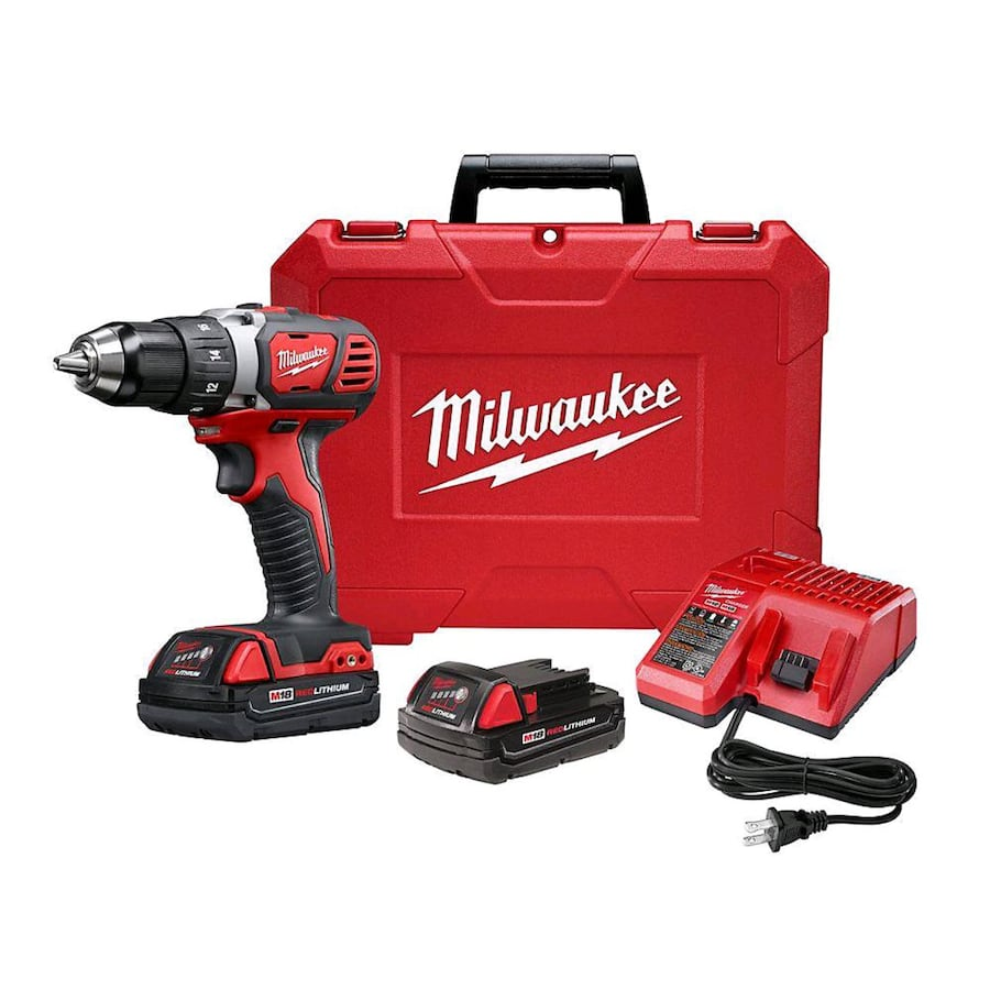 M18 18V Lithium-Ion Cordless 1/2-inch Drill Driver Kit with (2) 1.5Ah