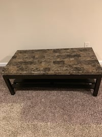 rectangular brown marble top coffee table Springfield, 22151