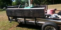 black and gray truck saddle box