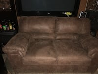 brown suede 3-seat sofa Palmdale, 93550