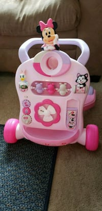 baby's pink and white Minnie Mouse walker Columbus, 43213