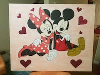 "24"" x 30"" minnie and mickey mouse painting  Woodbridge, 22191"