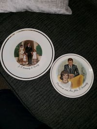John F. Kennedy and Family Decoration Plates Lodi
