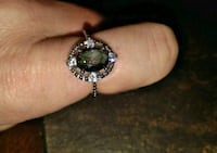 Turquoise stone and Diamond's ring! Sterlingsilver Cleveland