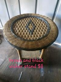 Brown and black wicker stand Jacksonville, 28540