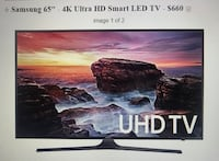 "SAMSUNG 65"" 4K Ultra HD Smart LED TV Alexandria, 22304"