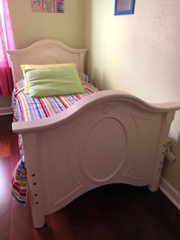 white wooden bed frame with mattress Cooper City, 33330