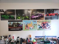 Posters for movies, cartoons, games and car