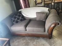 brown and black fabric loveseat Anthony, 88021