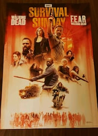 "Walking Dead Survival Sunday 13"" x 17"" poster Catonsville, 21228"
