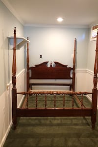 Cherry Bed frame poster pediment style full size double mattress  Marriottsville, 21104