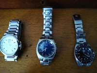 Fossil and Gruen watches.