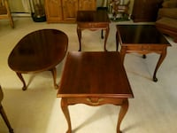 Set of three end tables and coffee table
