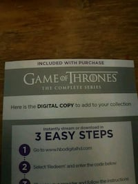 Game of Thrones Complete Series Digital Code Eagle Mountain, 84005