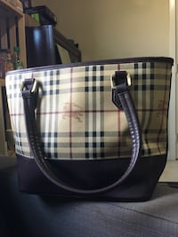 Burberry Haymarket Tote  Oxford, 06478