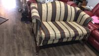 white and brown striped fabric sofa Chantilly, 20151