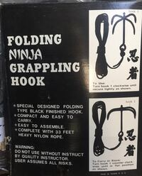 Folding ninja grappling hook