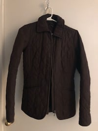 Chocolate brown Tommy jacket like new ...great fall spring jacket ... wrong size a little snug :) size M /L girls 7/8. Brampton, L6X 4J7