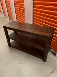 Dark wood three shelf side table Laval, H7X
