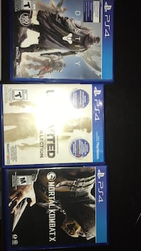 three Sony PS4 game cases