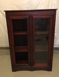 brown wooden framed glass display cabinet Berryville, 22611