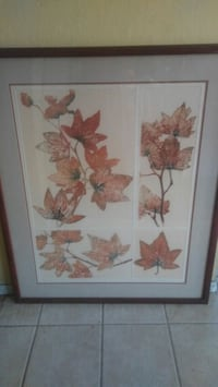 two brown wooden framed painting of flowers Union City, 94587