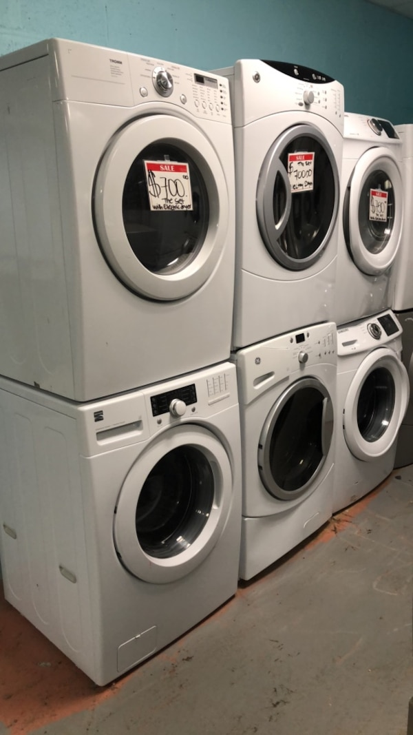 Set front load washer and dryer 90 days warranty