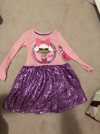 Lol dress size xsmall 4-5t brand new with tags Milton, L9T 8B9