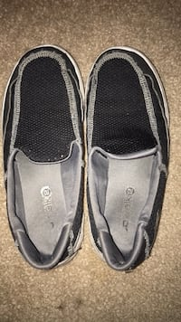 Black and grey slip on shoes