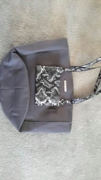 Grey canvas tote