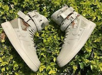 grigio e marrone Nike airforce1 high top