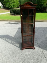 brown wooden framed glass display cabinet Austell, 30106