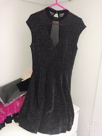 Women's black sleeveless dress 724 km