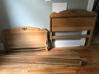 Solid wood dresser and matching twin bed frame  50 mi