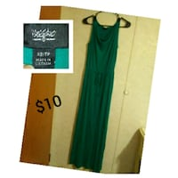 women's green sleeveless dress Lafayette