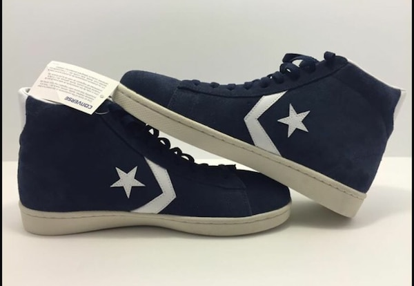 Brand New Men's Converse All Star Player Chuck Taylor Navy Blue Suede Hi Size 12