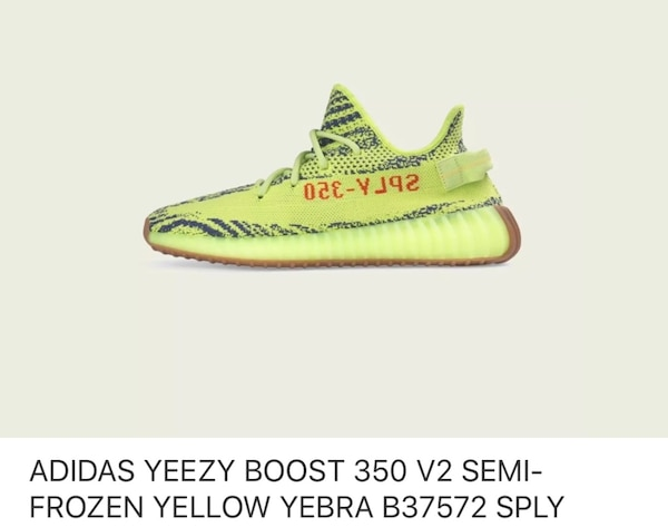 0fdc1464a8262 Used Adidas Yeezy 350 v2 Semi Frozen Yellow Zebra (Girls Size 6) for sale  in New York - letgo