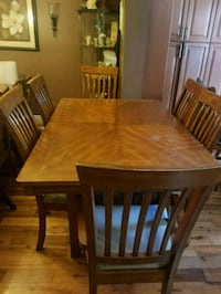 rectangular brown wooden dining table with chairs  Hamilton, L8S 4H2