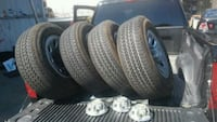 gray vehicle wheel with tire set