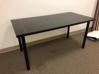 Black wooden table desk Chino, 91710
