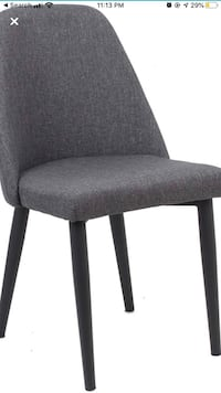 Premium Grey Dining Chairs, Conference Hole Desk, Metal Legs