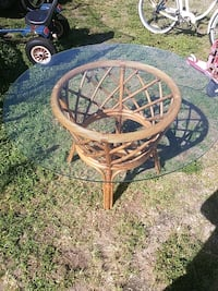 round brown wicker table with two chairs Port Charlotte, 33952